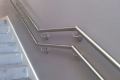 St Monicas stainless steel handrail